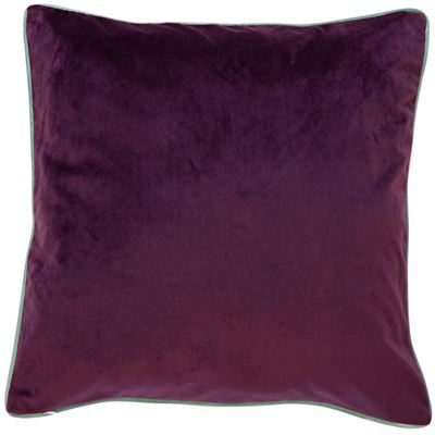 Paul Moneypenny TwoFaced Sky Blue and Purple Cushion