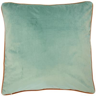 Paul Moneypenny TwoFaced Orange and Duck-Egg Blue Cushion